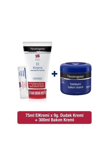 Neutrogena Parfümsüz El Kremi+ Besleyici Bakım+Dudak Kremi  Renksiz
